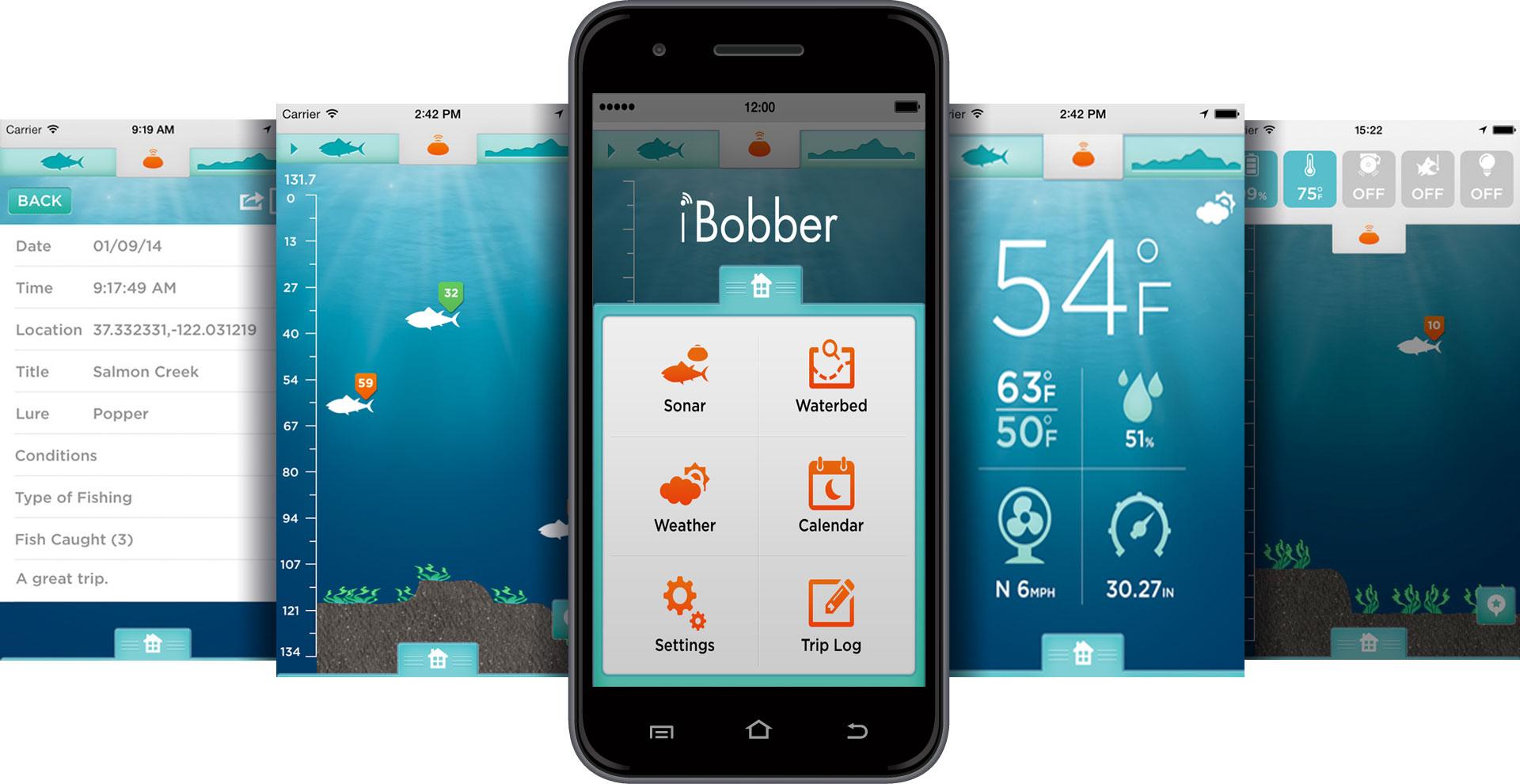iBobber-App-Screens