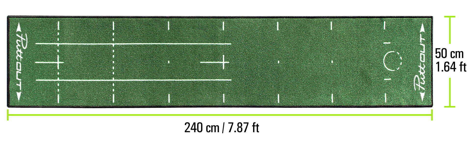 PuttOUT Mat Dimensions Green