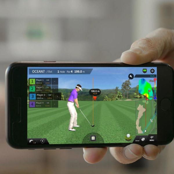 PhiGolf Game on Smartphone Screen