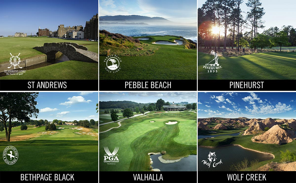 World famous courses