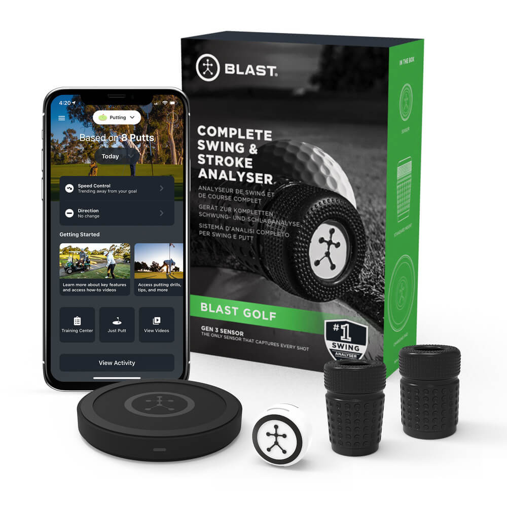 Blast Golf Box with Iphone and Attachments